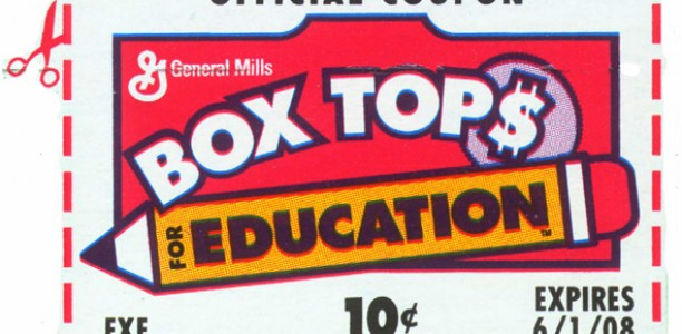 Box Tops for Education means Books for our Library!