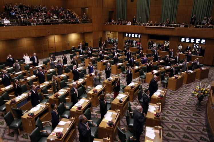 The oregon legislature is back in session starting today monday
