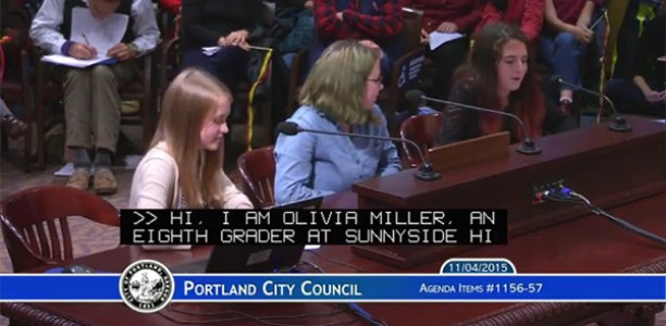 SES students testify before Portland City Council