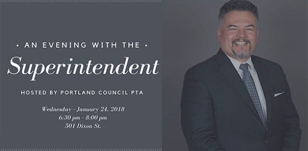 January 24, 6:30-8pm: An evening with the superintendent